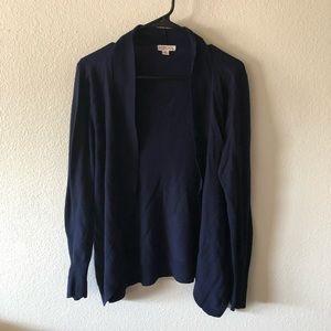 Blue open cardigan